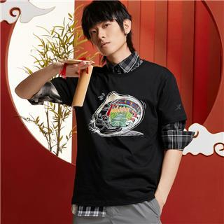 【攻城记系列】特步 男女短袖 新款天津定制款情侣款T恤880227010309