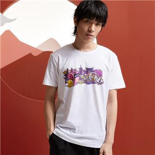 【攻城记系列】特步 男女短袖 新款南京定制款情侣款T恤880227010309