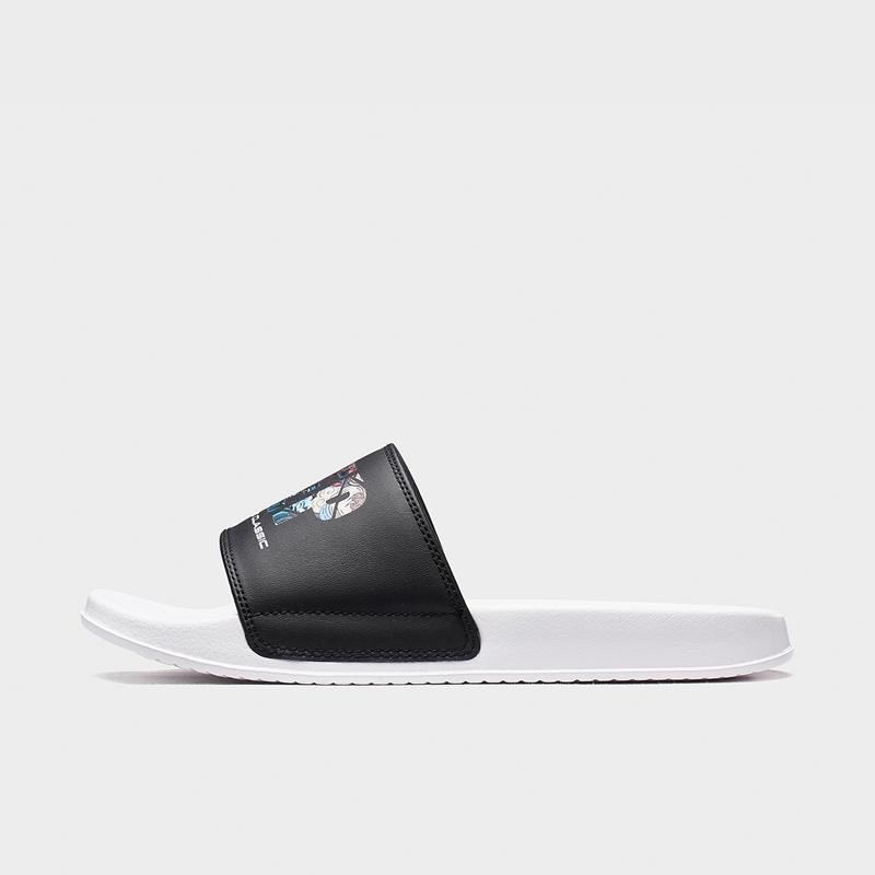 特步 男子拖鞋 20年新款舒适印花凉鞋880219355357