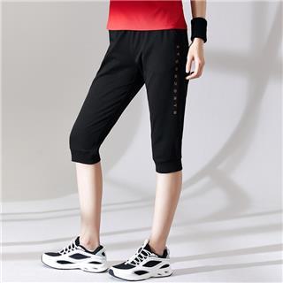 特步 女子短裤 20年新款运动简约七分裤880228620215