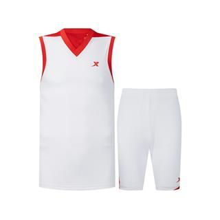 特步 专柜款 男子运动套装 新款篮球比赛背心短裤两件套980229688001