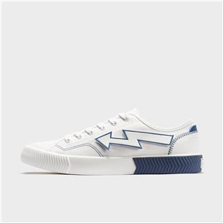 特步 男子帆布鞋 20年新款可拆卸魔术贴休闲男鞋880219100067