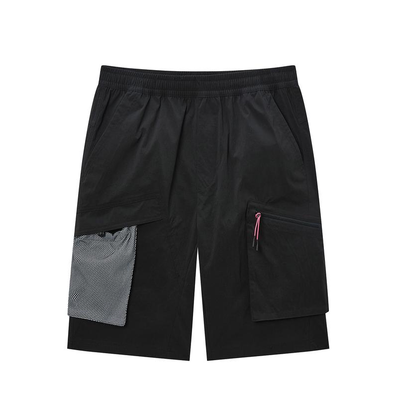 特步 专柜款 男子梭织短裤 篮球运动透气百搭五分裤980229970507