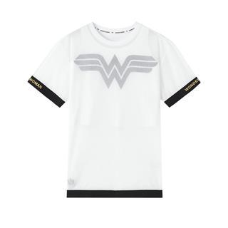 【神奇女侠联名款】特步 专柜款 女子短袖 20年新款休闲透气针织两件套980228410167