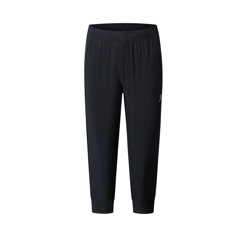 特步 专柜款 女子梭织运动七分裤 20年新款跑步运动裤980228800297