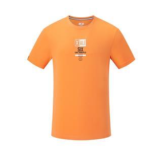特步 专柜款 男子短袖针织衫 20年新款字母印花健身T恤980229010062