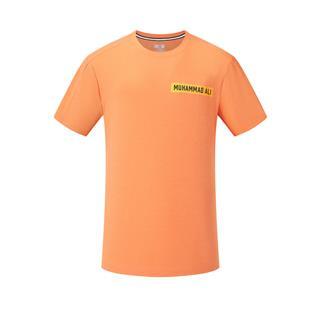 特步 专柜款 男子短袖针织衫 20年新款后背印花运动T恤980229010073