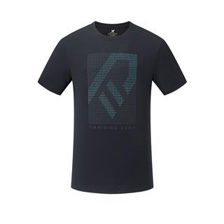 特步 专柜款 男子短袖针织衫 20年新款简约舒适运动T恤980229010102