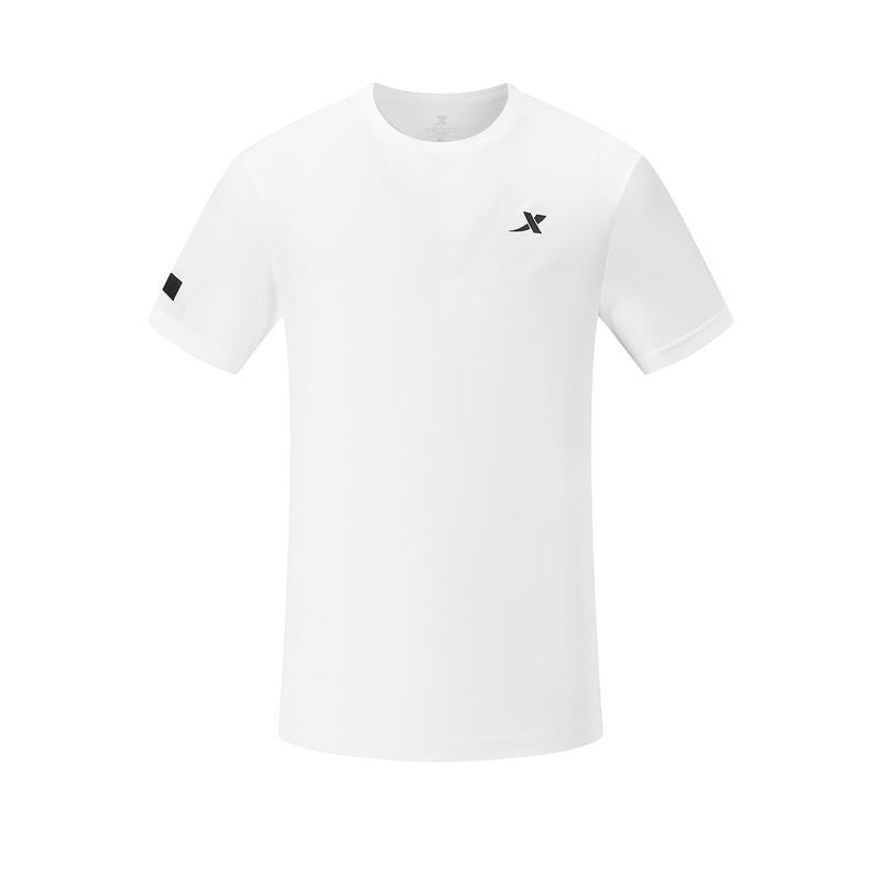 特步 专柜款 男子短袖针织衫 20年新款纯色舒适运动T恤980229010104