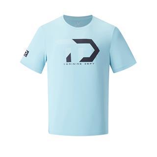 特步 专柜款 男子短袖针织衫 20年新款字母印花健身运动T恤980229010120