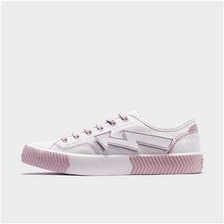 特步 女子帆布鞋 都市潮流时尚个性百搭休闲帆布鞋880218100067