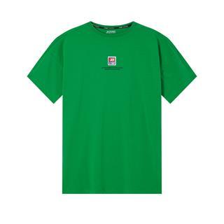 特步 专柜款 男子短袖针织衫 20年新款休闲背后印花T恤980229010032