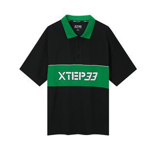 【乐华七子同款】特步 专柜款 男子短袖POLO衫 20年新款翻领休闲宽松T恤980229020042