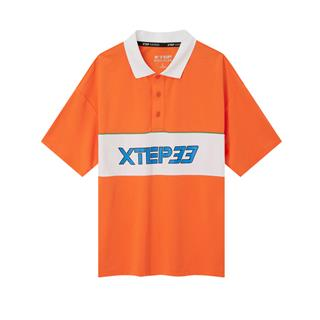 特步 专柜款 男子短袖POLO衫 20年新款翻领休闲宽松T恤980229020042