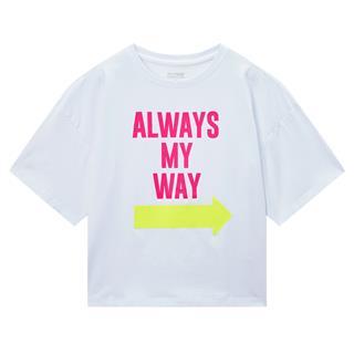 特步 专柜款 女子短袖针织衫 20年夏新款短款字母印花T恤980228010008