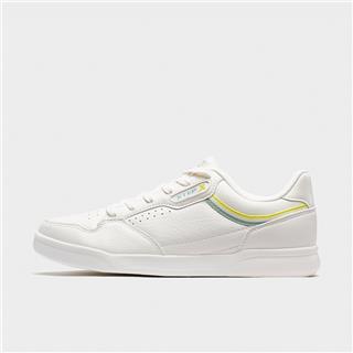 特步 专柜款 女子板鞋 20年新款时尚革面百搭小白鞋980218316638
