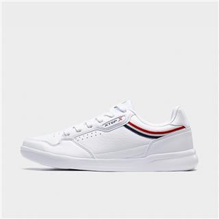 特步 专柜款 男子板鞋 20年新款革面时尚小白鞋980219316638
