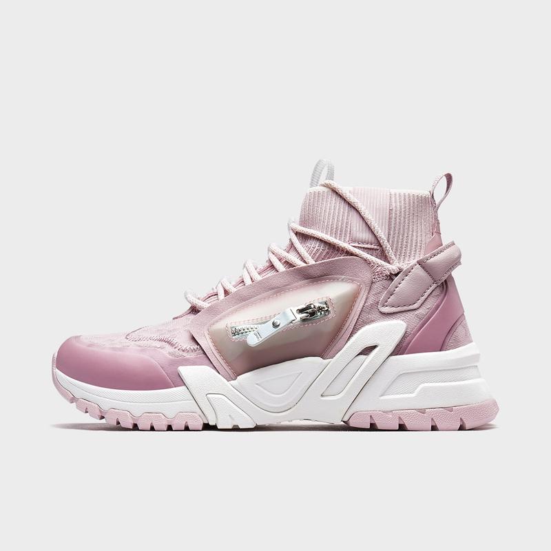 特步 专柜款 女子休闲鞋 20年新款潮流舒适透气运动鞋980218320219