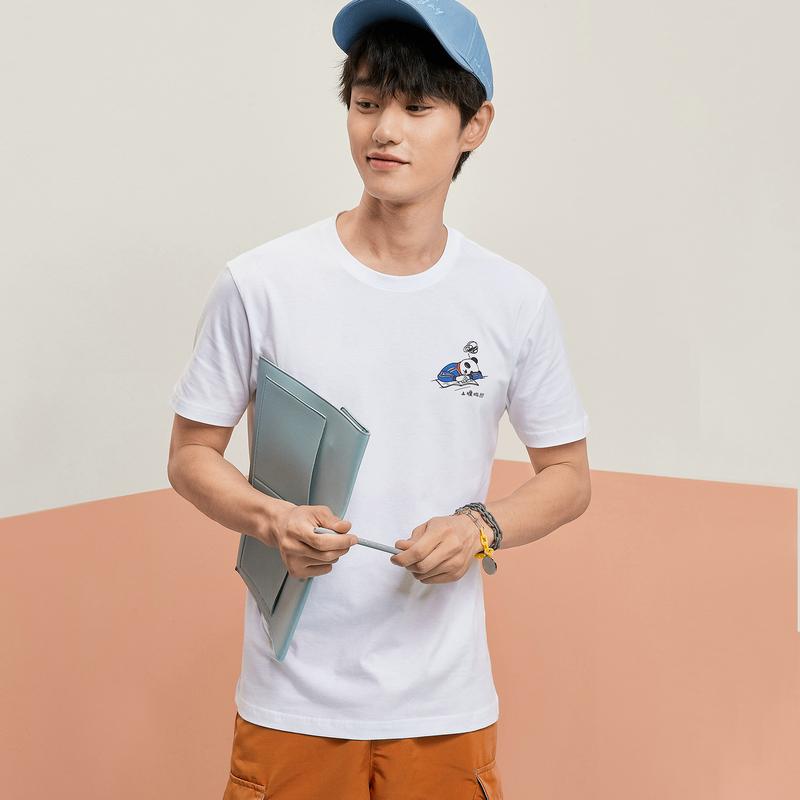 【开学季】特步 男女短袖 20年新款定制款情侣款T恤880227010309