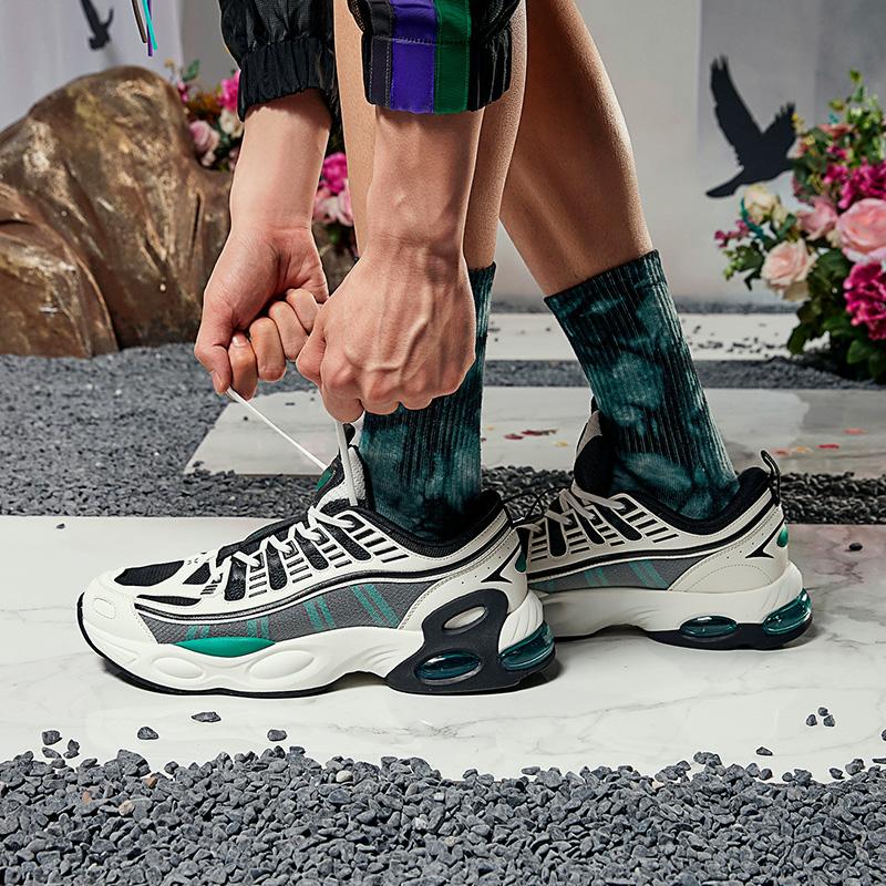 【山海系列】特步 男子休闲鞋 新款山海鸾鸟休闲鞋气垫鞋潮流老爹鞋子880319320017
