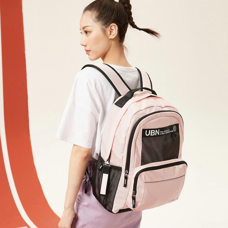 特步 男女双肩包 新款时尚舒适情侣同款旅游背包880337110019