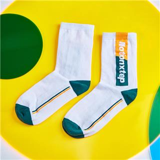 特步 男子平板长袜 20年新款时尚提花运动长袜880339560032
