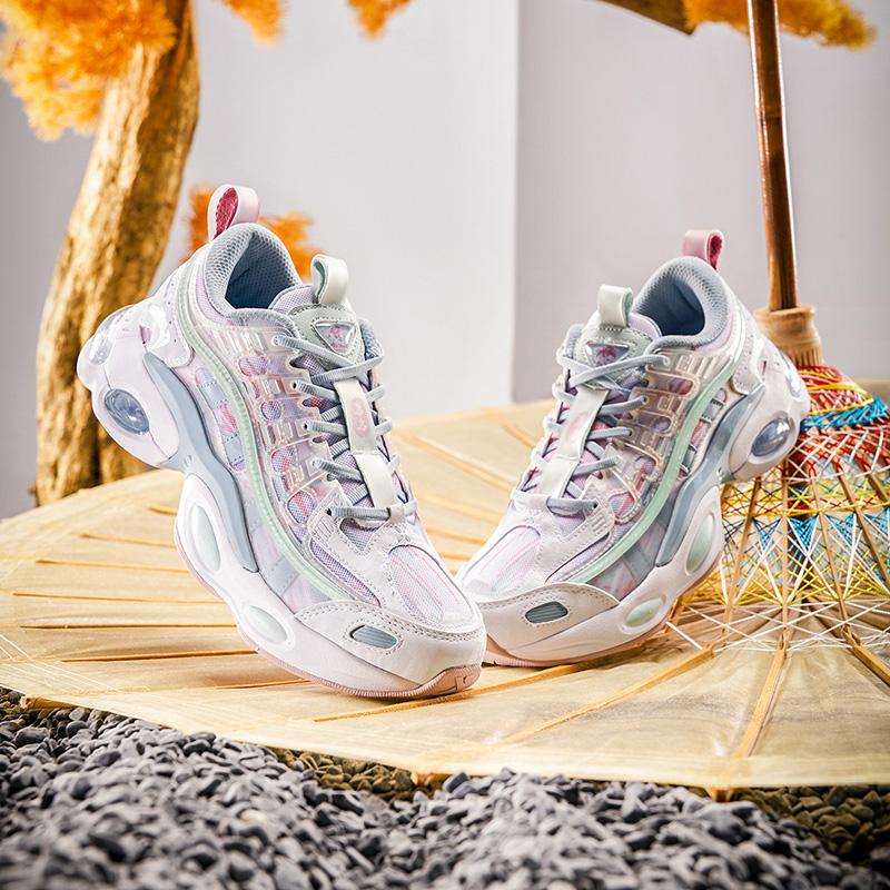【山海系列】特步 女子休闲鞋 新款时尚百搭气垫老爹鞋880318320093