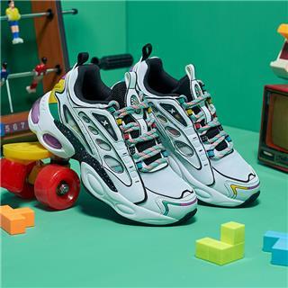 【次元战纪系列】特步 女子休闲鞋 20年新款潮流气垫老爹鞋880318320112