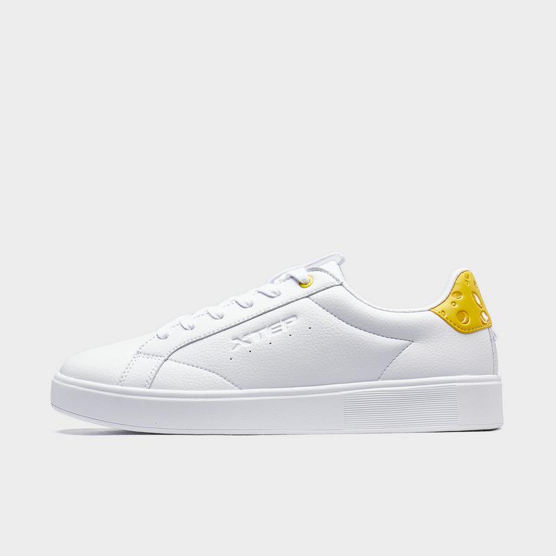 【猫和老鼠联名】特步 男子板鞋 20年新款奶酪尾时尚简约小白鞋880319310103