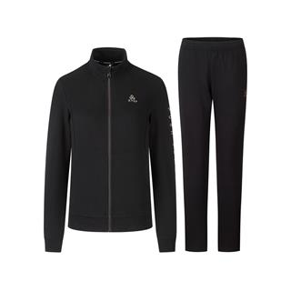 特步 女子针织套装 20年新款拉链针织上衣运动长裤两件套880328960062