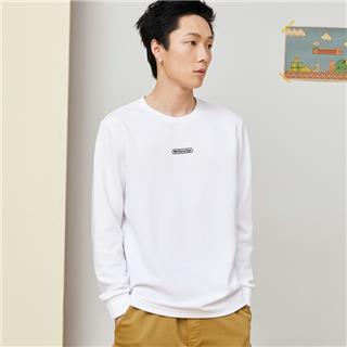 特步 男子卫衣 20年新款字母印花纯色休闲套头衫880329030020