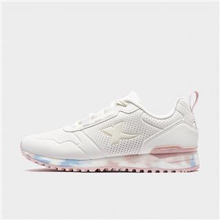 特步 专柜款 女子休闲鞋 20年新款革面透气运动鞋980318320307