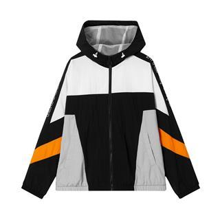 特步 专柜款 男子风衣 20年新款连帽撞色拉链外套980329150183