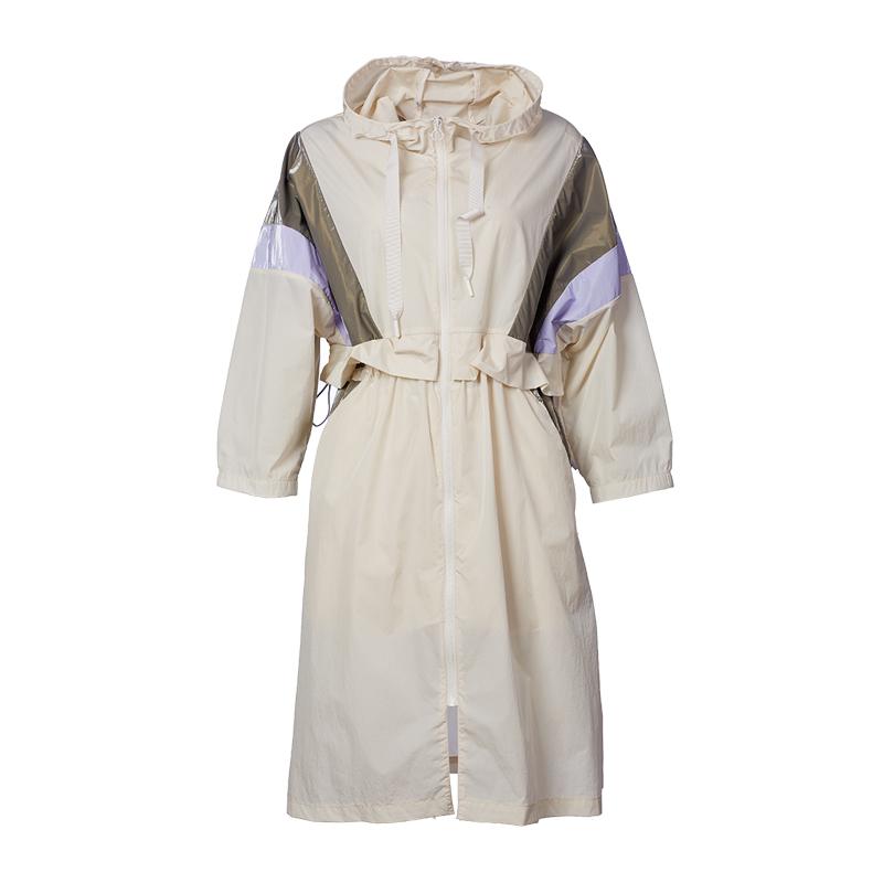 特步 专柜款 女子风衣 新款时尚运动拉链连衣裙外套980328140543