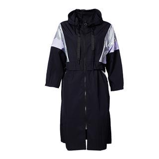 特步 专柜款 女子风衣 20年新款时尚运动拉链连衣裙外套980328140543