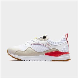 特步 女子休闲鞋 20年新款网面革面拼接透气简约运动鞋880318326052