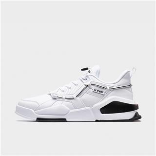 特步 男子板鞋 20年新款革面时尚都市耐磨板鞋880319315990