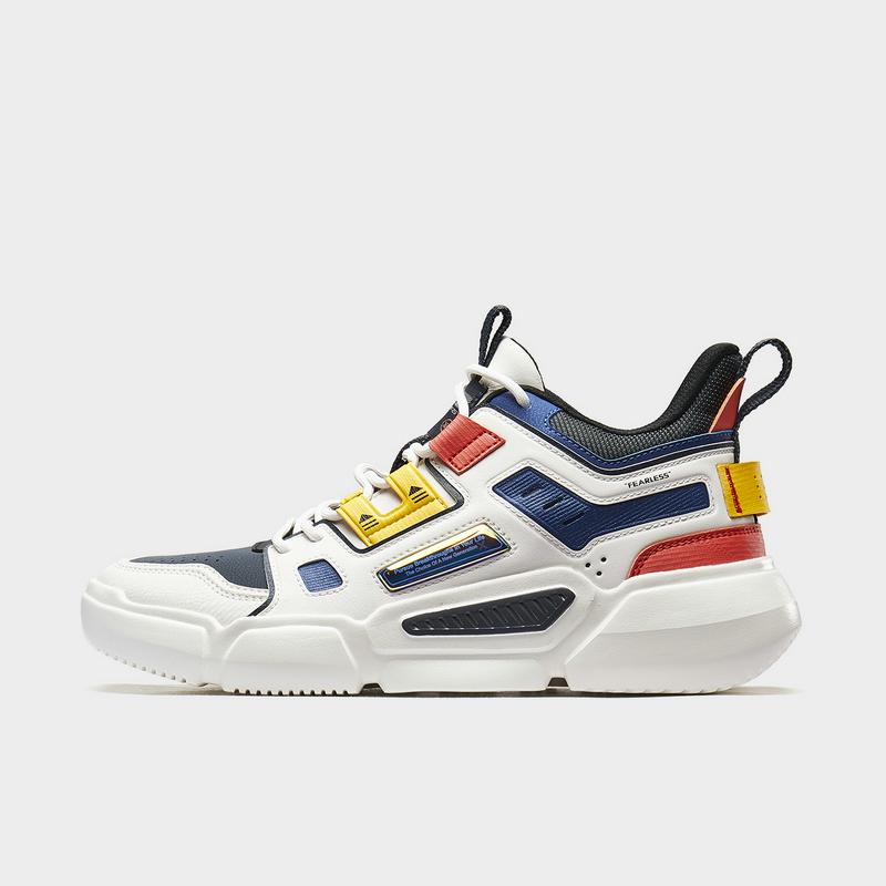 【二次元】特步 男子篮球鞋 20年新款时尚革面室内高帮运动鞋880319120082