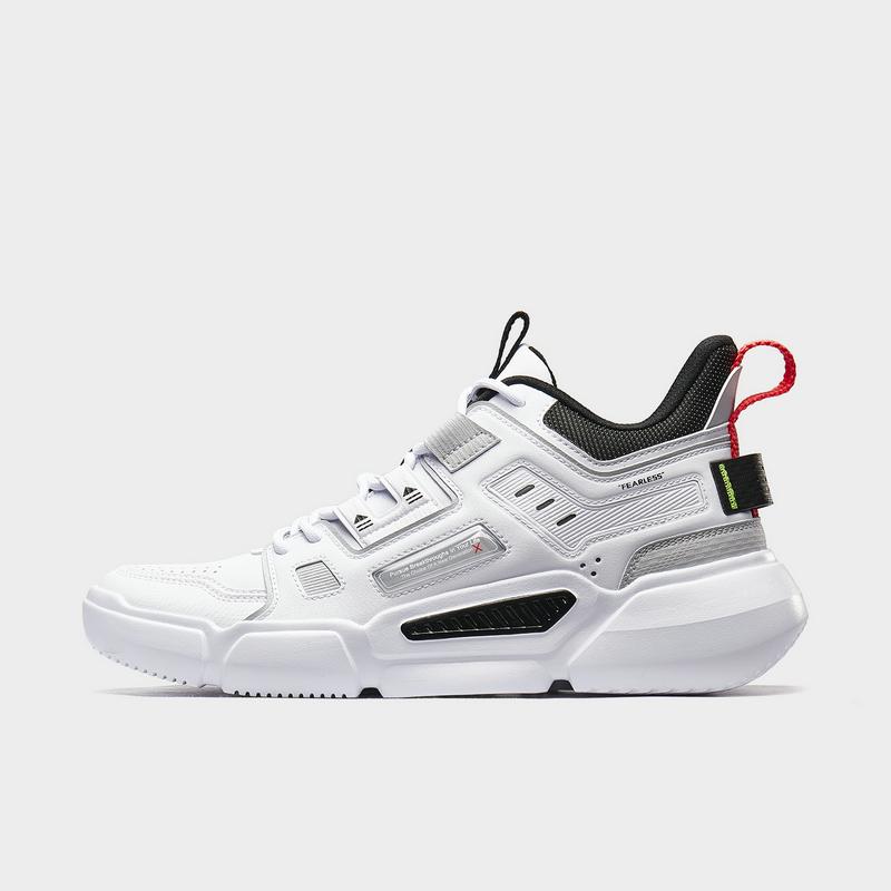 【二次元】特步 男子篮球鞋 新款时尚革面室内高帮运动鞋880319120082