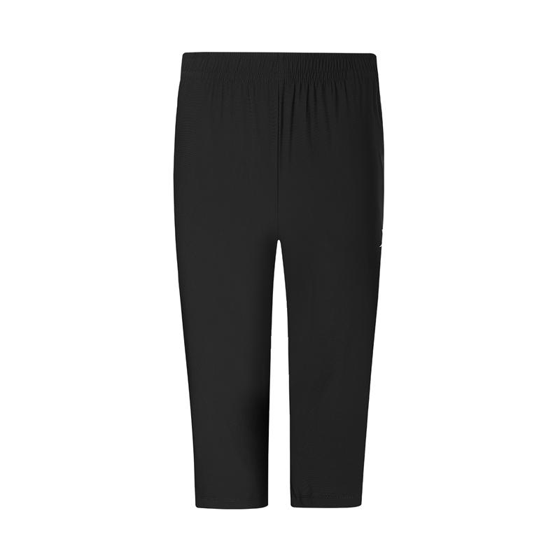 特步 专柜款 男子短裤 新款跑步运动舒适透气针织七分裤980329620416