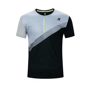 特步 专柜款 男子短袖 新款运动综训舒适透气短袖针织衫980329010410