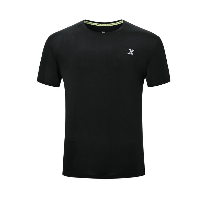 特步 专柜款 男子短袖 新款跑步运动透气百搭时尚T恤980329010400