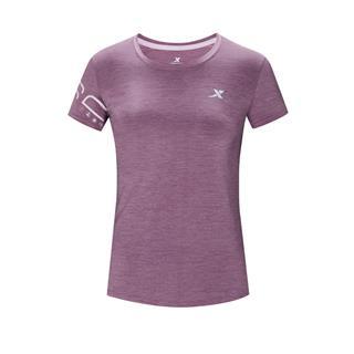 特步 专柜款 女子短袖 20年新款跑步运动透气T恤980328010442