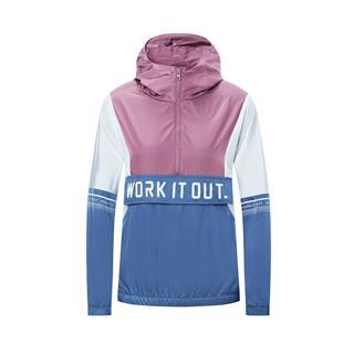 特步 专柜款 女子单夹克 20年新款时尚连帽健身运动外套980328110050