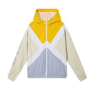 特步 专柜款 女子双层夹克 20年新款活力时尚连帽拉链拼色外套980328120147