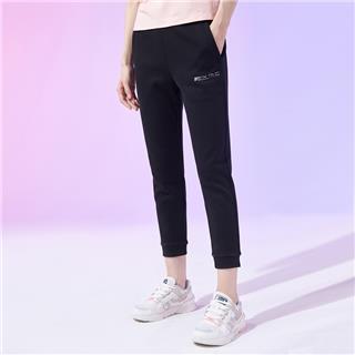 特步 专柜款 女子针织九分裤 20年新款运动小脚裤980328840420