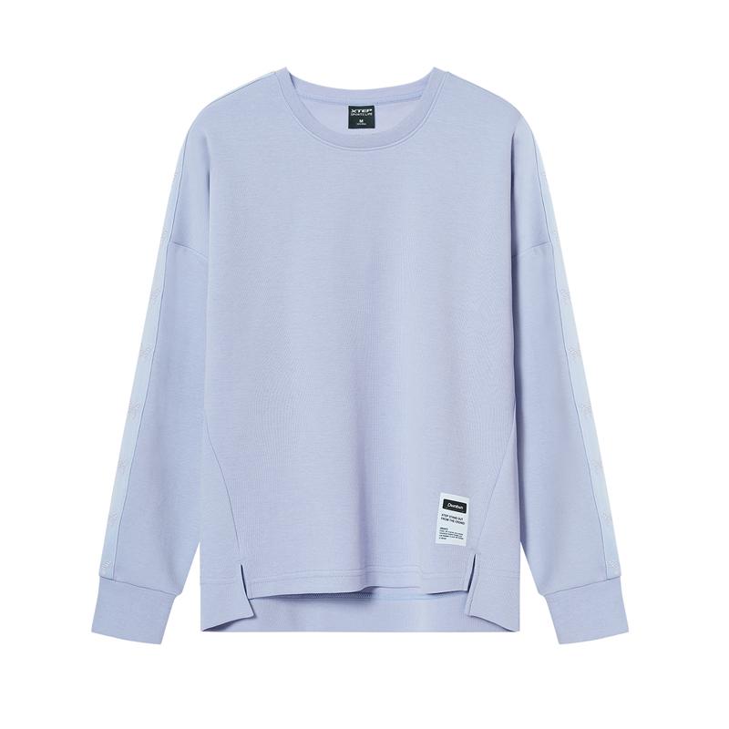 特步 专柜款 女子卫衣 20年新款都市简约套头衫980328920304