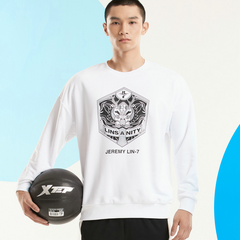 【林书豪联名】特步 男子卫衣 新款龙元素林书豪同款篮球文化衫880329050139
