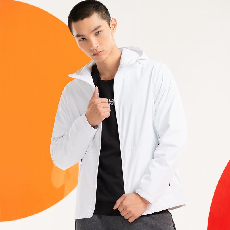 特步 男子风衣 20年新款双层综训时尚潮流外套上衣880329150040