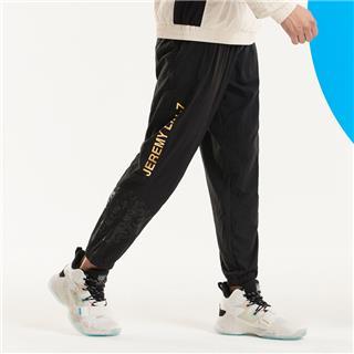 特步 男子长裤 20年新款梭织单裤轻透气篮球运动裤子880329490135